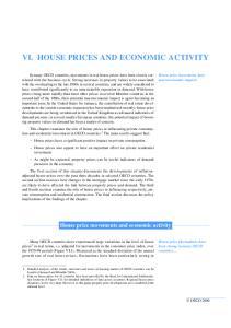 VI. HOUSE PRICES AND ECONOMIC ACTIVITY