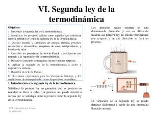 VI. Segunda ley de la termodinámica