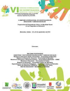 VI SIMPOSIO INTERNACIONAL DE INVESTIGACIÓN EN EDUCACIÓN Y CIENCIAS SOCIALES