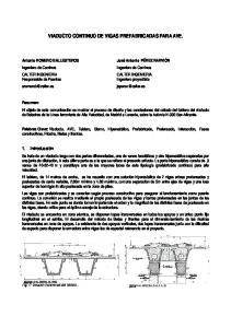 VIADUCTO CONTINUO DE VIGAS PREFABRICADAS PARA AVE