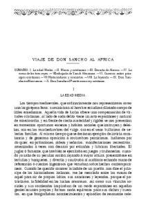 VIAJE DE DON SANCHO AL AFRICA