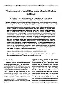 Vibration analysis of a small diesel engine using diesel-biodiesel fuel blends