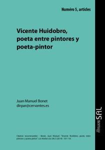 Vicente Huidobro, poeta entre pintores y poeta-pintor