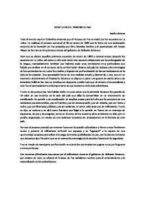 VICISITUDES DEL PROCESO DE PAZ