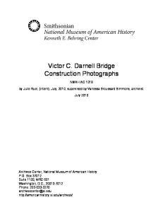 Victor C. Darnell Bridge Construction Photographs