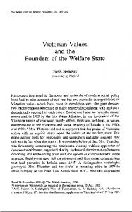 Victorian Values and the Founders of the Welfare State