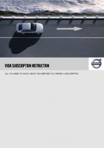 VIDA SUBSCRIPTION INSTRUCTION ALL YOU NEED TO KNOW ABOUT VIDA BEFORE YOU ORDER A SUBSCRIPTION