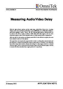 Video Delay