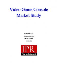 Video Game Console Market Study
