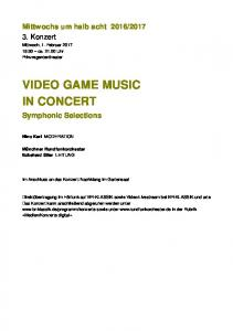 VIDEO GAME MUSIC IN CONCERT
