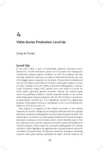 Video Games Production: Level Up