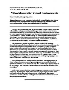 Video Mosaics for Virtual Environments