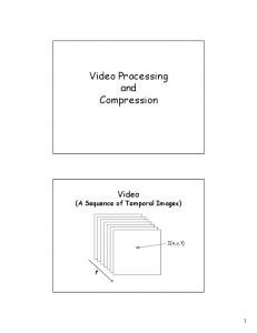 Video Processing and Compression