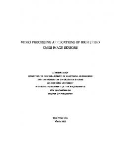 VIDEO PROCESSING APPLICATIONS OF HIGH SPEED CMOS IMAGE SENSORS