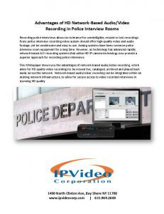 Video Recording in Police Interview Rooms