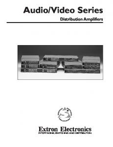 Video Series Distribution Amplifiers