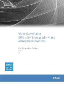 Video Surveillance EMC Isilon Storage with Video Management Systems