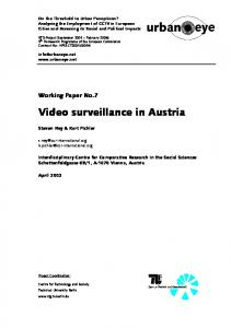 Video surveillance in Austria