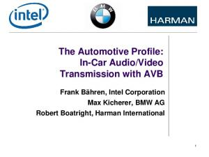Video Transmission with AVB