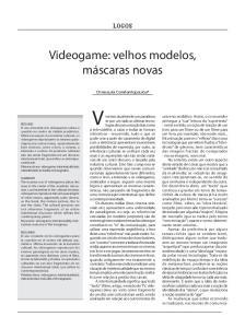 Videogame: velhos modelos, máscaras novas