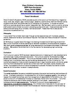 Viera Children s Academy 3395 Viera Boulevard Viera, Florida fax