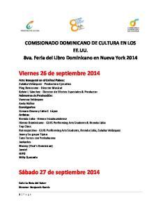 Viernes 26 de septiembre 2014