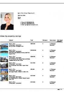 View my property listings
