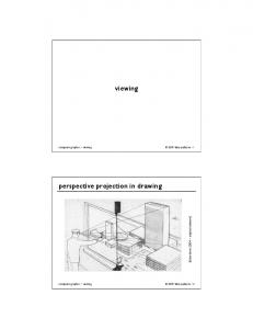 viewing perspective projection in drawing