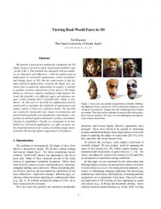 Viewing Real-World Faces in 3D