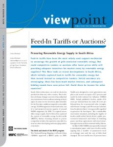viewpoint Procuring Renewable Energy Supply in South Africa