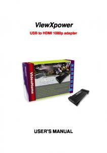 ViewXpower. USB to HDMI 1080p adapter USER S MANUAL