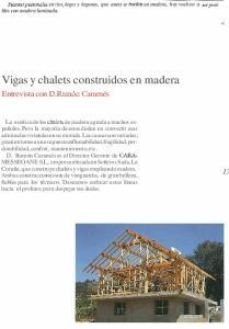 Vigas y chalets construidos en madera