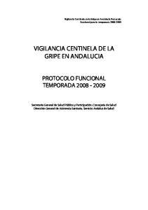 VIGILANCIA CENTINELA DE LA GRIPE EN ANDALUCIA