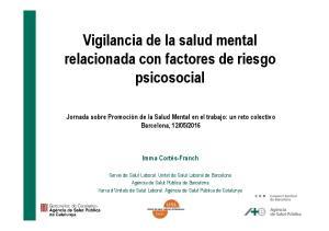 Vigilancia de la salud mental relacionada con factores de riesgo psicosocial