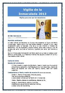 Vigilia de la Inmaculada 2013