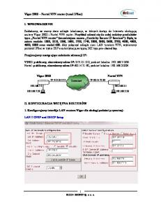 Vigor 2900 Nortel VPN router (tunel IPSec) I. WPROWADZENIE