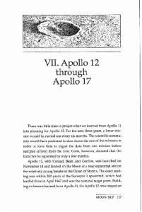 VII. Apollo 12. Apollo 17. through