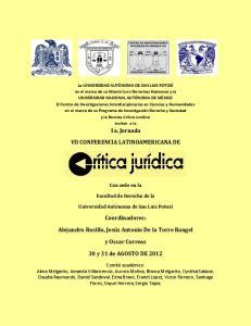 VII CONFERENCIA LATINOAMERICANA DE