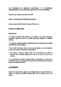 VII CONGRESO DE DERECHO SOCIETARIO Y III CONGRESO IBEROAMERICANO DE DERECHO SOCIETARIO Y DE LA EMPRESA