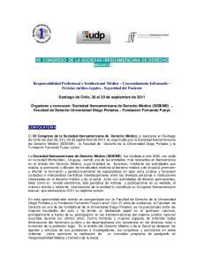 VII CONGRESO DE LA SOCIEDAD IBEROAMERICANA DE DERECHO MEDICO