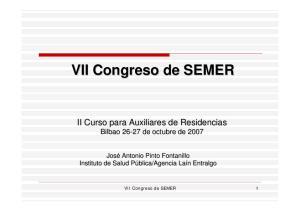 VII Congreso de SEMER