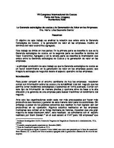 VII Congreso Internacional de Costos Punta del Este, Uruguay Noviembre 2003