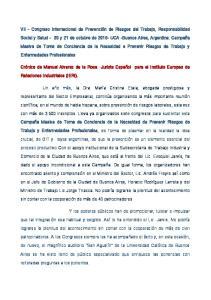 VII - Congreso Internacional de Prevención de Riesgos del Trabajo, Responsabilidad