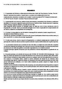 VII FESTIVAL DE FOLKLORE JOVEN 6 de noviembre de REGLAMENTO