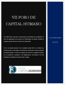 VII FORO DE CAPITAL HUMANO