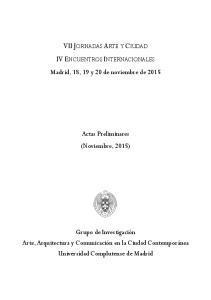 VII JORNADAS ARTE Y CIUDAD IV ENCUENTROS INTERNACIONALES