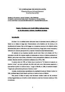 VII JORNADAS DE SOCIOLOGÍA