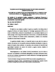VII JORNADAS INTERDISCIPLINARIAS DE ESTUDIOS AGRARIOS Y AGROINDUSTRIALES
