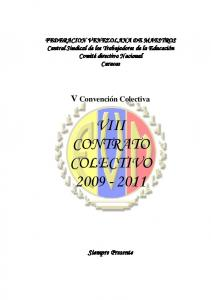 VIII CONTRATO COLECTIVO