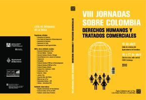 VIII JORNADAS SOBRE COLOMBIA